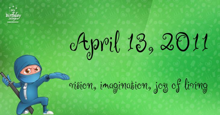 April 13, 2011 Birthday Ninja