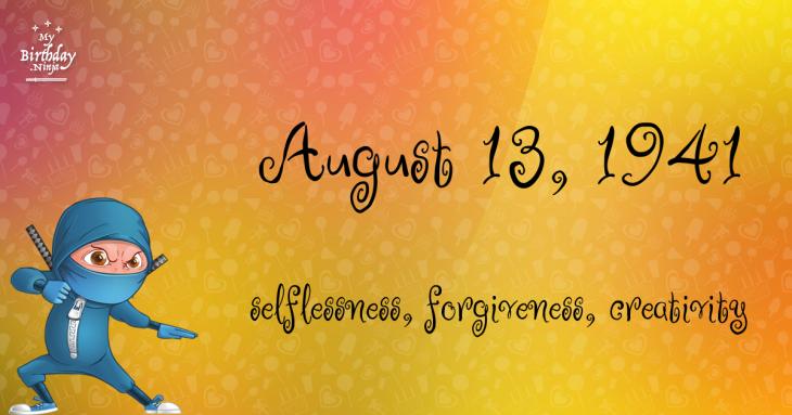 August 13, 1941 Birthday Ninja