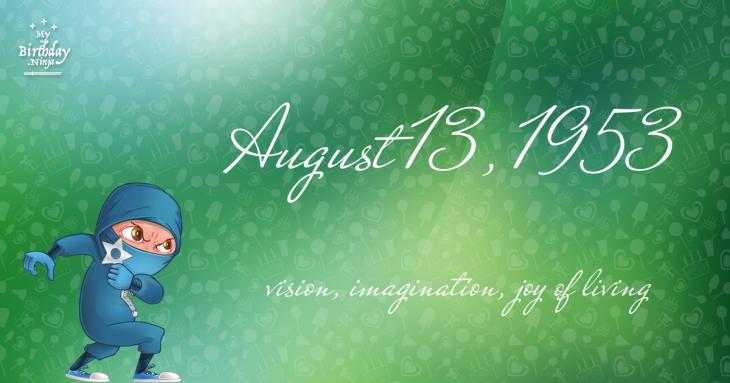 August 13, 1953 Birthday Ninja
