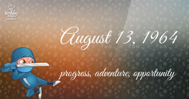 August 13, 1964 Birthday Ninja