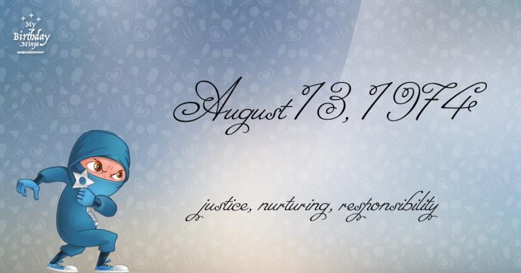 August 13, 1974 Birthday Ninja