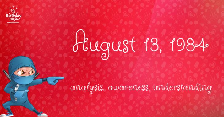 August 13, 1984 Birthday Ninja
