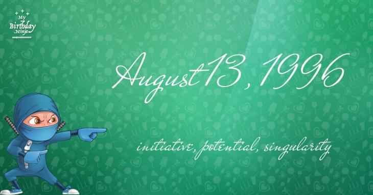 August 13, 1996 Birthday Ninja