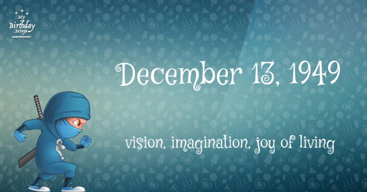 December 13, 1949 Birthday Ninja