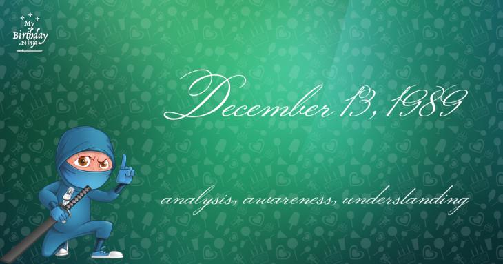 December 13, 1989 Birthday Ninja