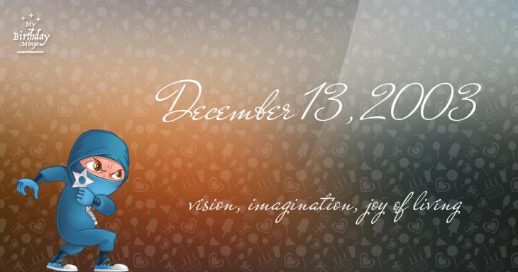 December 13, 2003 Birthday Ninja
