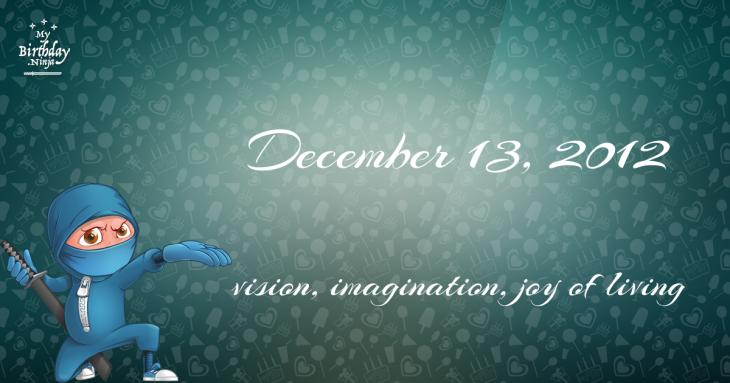 December 13, 2012 Birthday Ninja