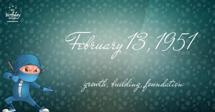 February 13, 1951 Birthday Ninja