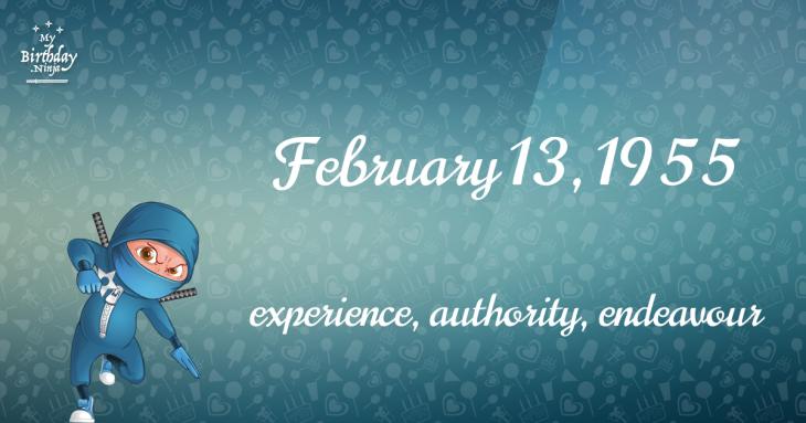 February 13, 1955 Birthday Ninja