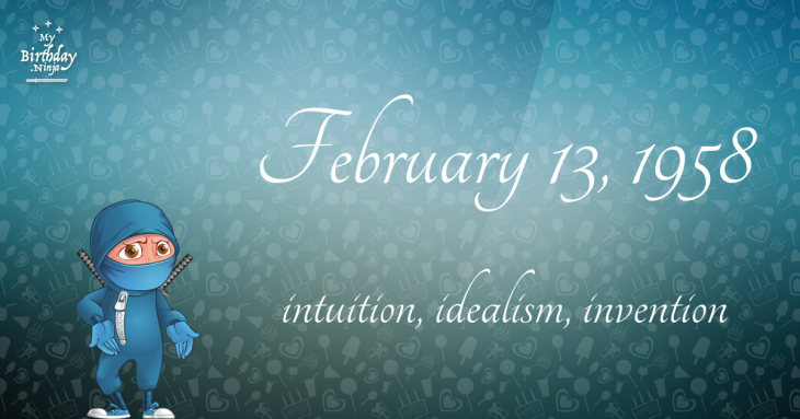 February 13, 1958 Birthday Ninja