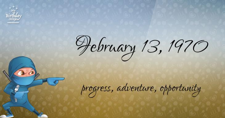February 13, 1970 Birthday Ninja