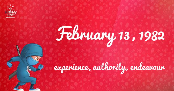 February 13, 1982 Birthday Ninja