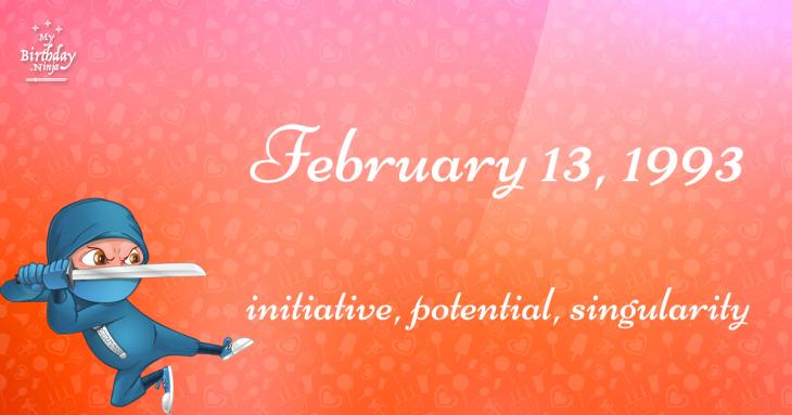 February 13, 1993 Birthday Ninja