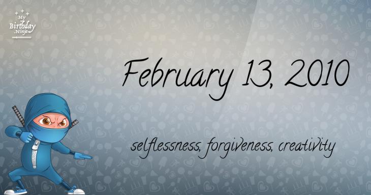 February 13, 2010 Birthday Ninja