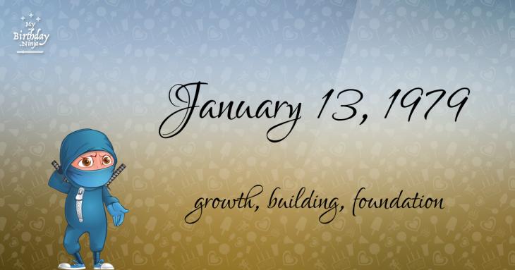 January 13, 1979 Birthday Ninja