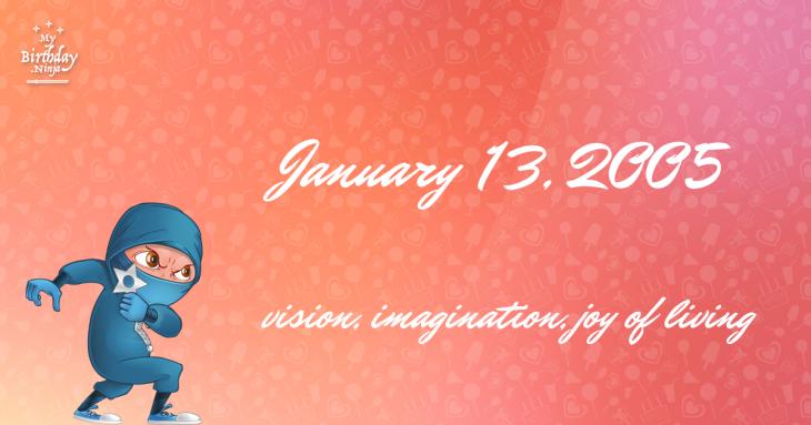 January 13, 2005 Birthday Ninja