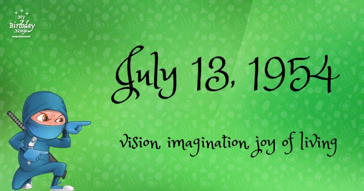 July 13, 1954 Birthday Ninja