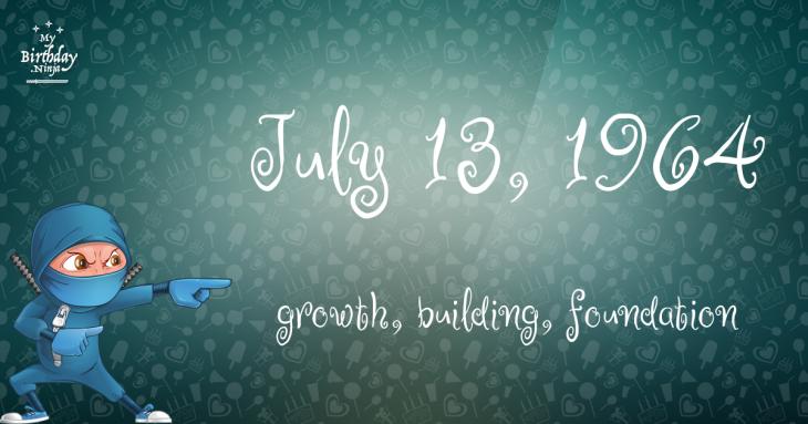 July 13, 1964 Birthday Ninja
