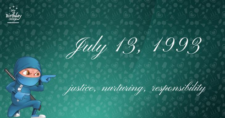 July 13, 1993 Birthday Ninja