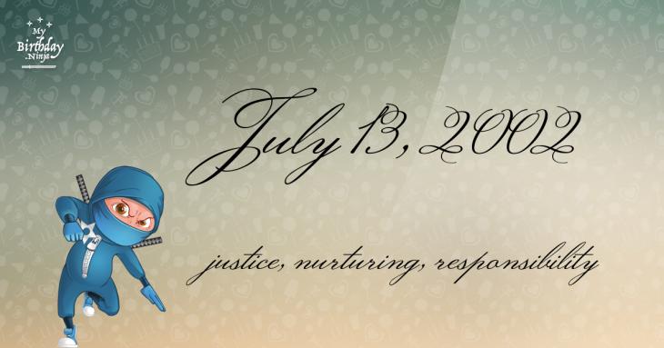 July 13, 2002 Birthday Ninja