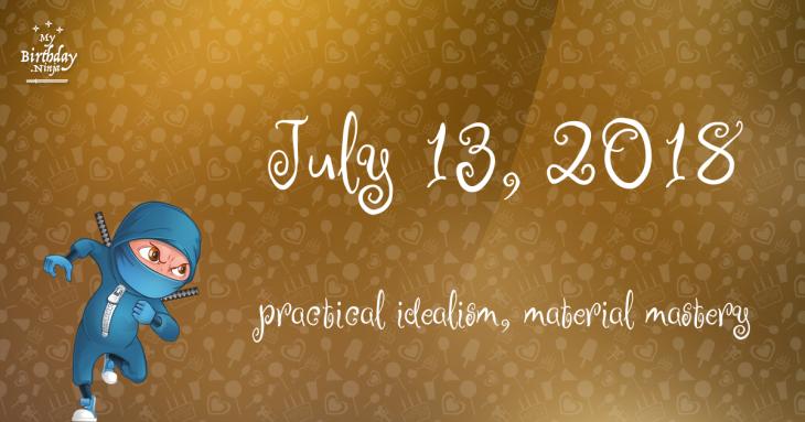July 13, 2018 Birthday Ninja