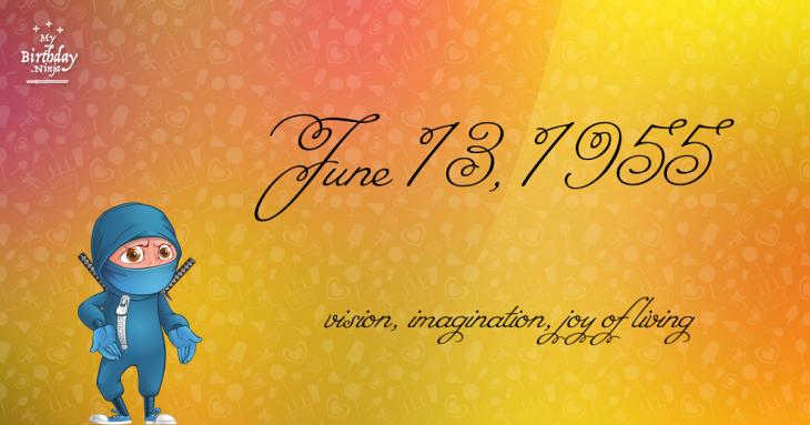June 13, 1955 Birthday Ninja