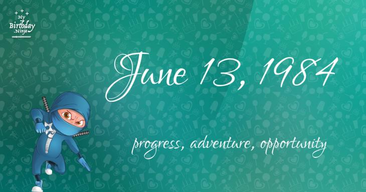 June 13, 1984 Birthday Ninja