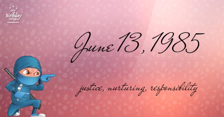 June 13, 1985 Birthday Ninja