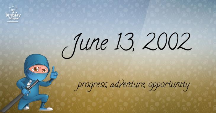 June 13, 2002 Birthday Ninja