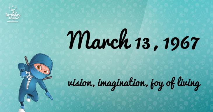 March 13, 1967 Birthday Ninja