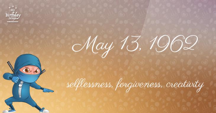 May 13, 1962 Birthday Ninja