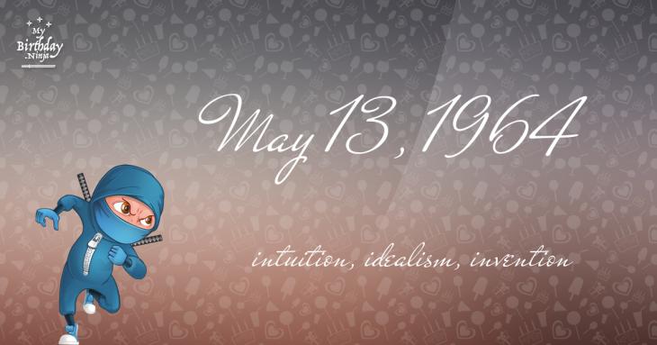 May 13, 1964 Birthday Ninja