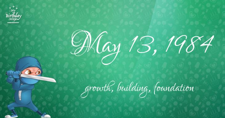 May 13, 1984 Birthday Ninja