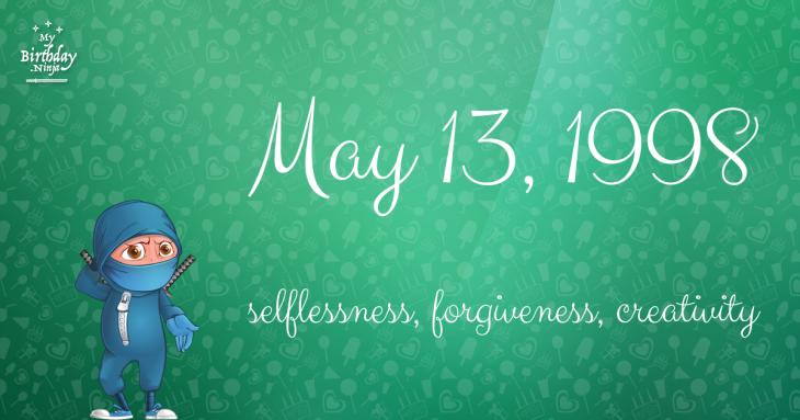 May 13, 1998 Birthday Ninja