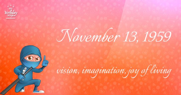 November 13, 1959 Birthday Ninja