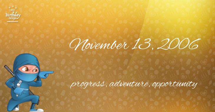 November 13, 2006 Birthday Ninja