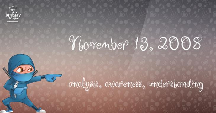 November 13, 2008 Birthday Ninja