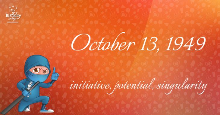 October 13, 1949 Birthday Ninja