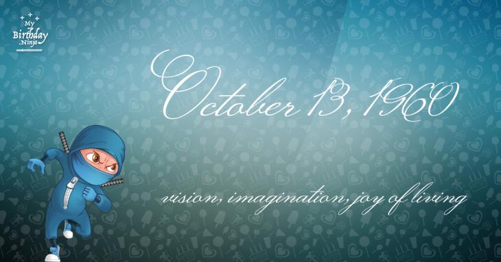October 13, 1960 Birthday Ninja