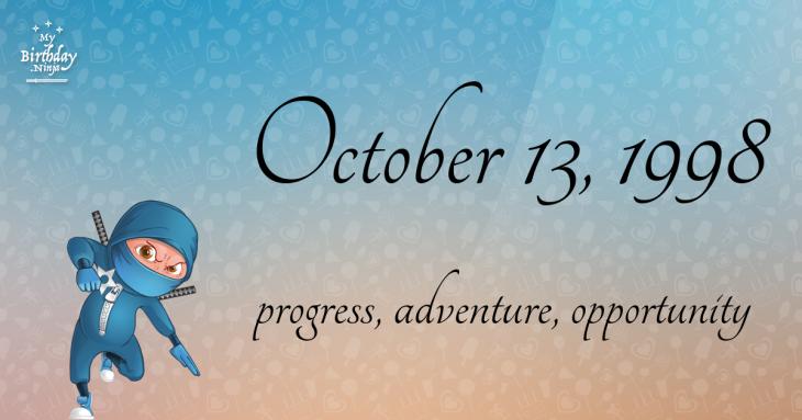 October 13, 1998 Birthday Ninja