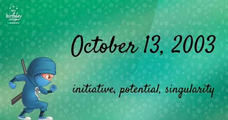 October 13, 2003 Birthday Ninja
