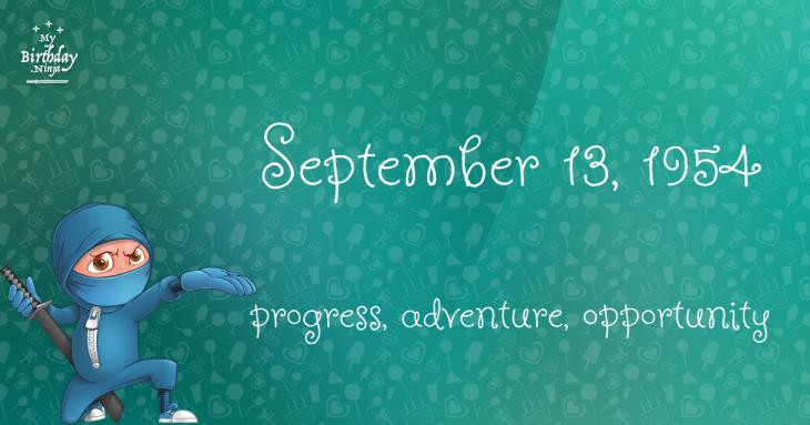 September 13, 1954 Birthday Ninja