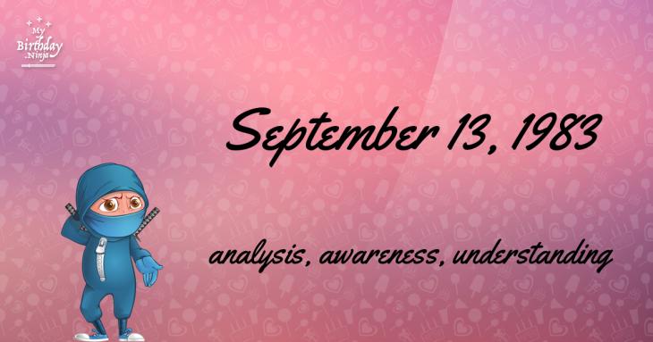 September 13, 1983 Birthday Ninja