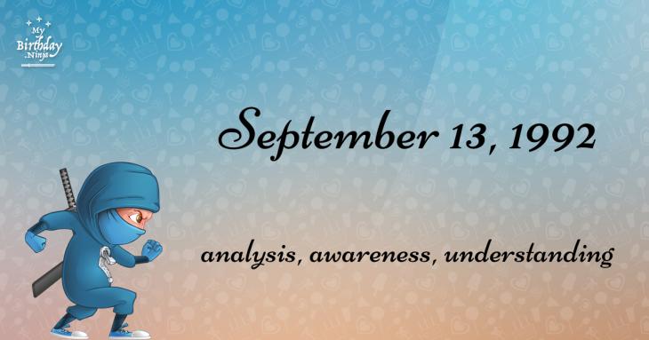 September 13, 1992 Birthday Ninja