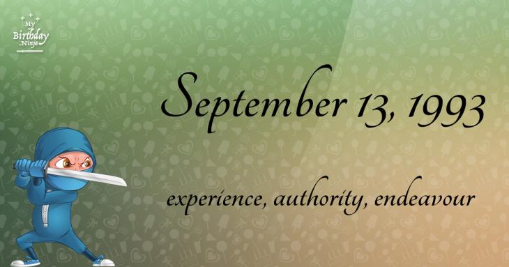 September 13, 1993 Birthday Ninja