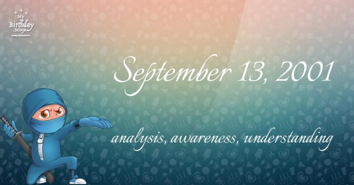 September 13, 2001 Birthday Ninja