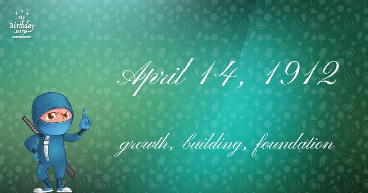 April 14, 1912 Birthday Ninja
