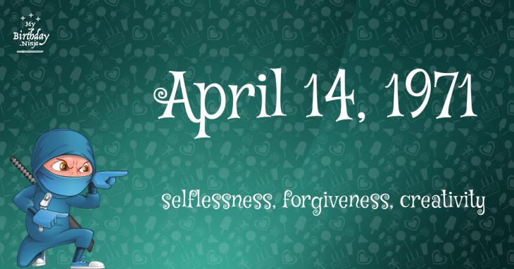 April 14, 1971 Birthday Ninja