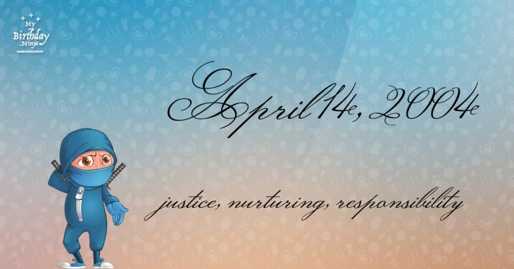 April 14, 2004 Birthday Ninja