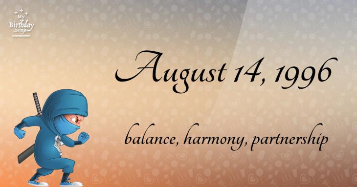 August 14, 1996 Birthday Ninja